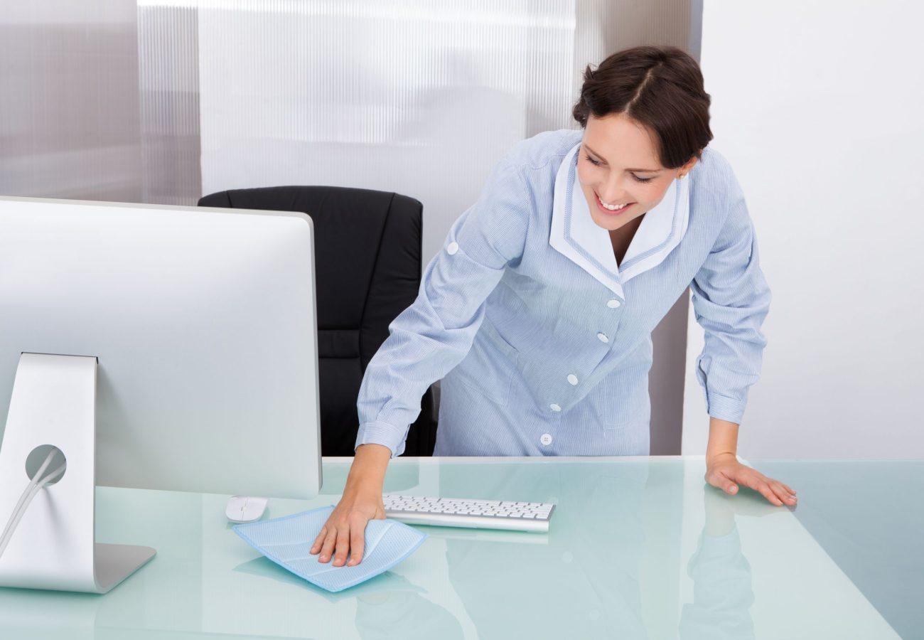 La limpieza de oficinas evita la transmisión de virus